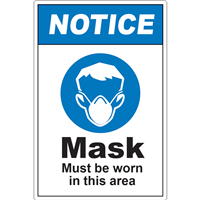 Notice Mask Must Be Worn D1