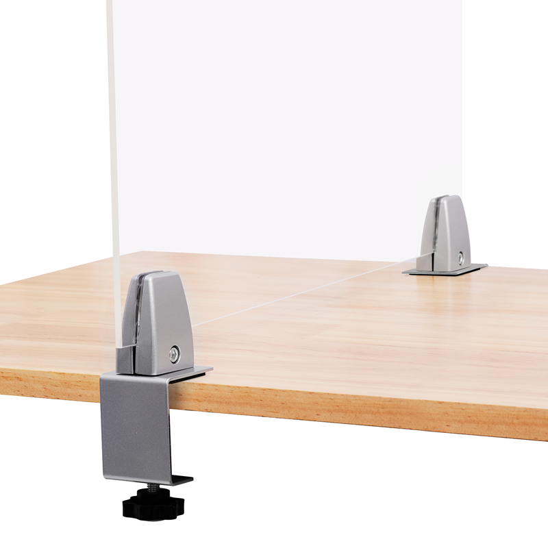 Edge Clamp Dual Direction/Adjustable Work with 1//8-3//4 Material up to 2 Countertop 15289-2D FixtureDisplays Sneeze Guard C-Clamp Support