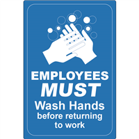 Employees Must Wash Hands D1