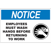 Notice Employees Must Wash D1