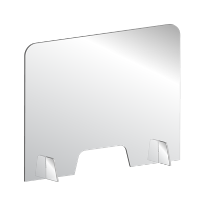 "1/4"" Countertop / Desktop Acrylic Sneeze Guard"